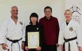 Japanese Consul Visits Ogkk Honbu Dojo